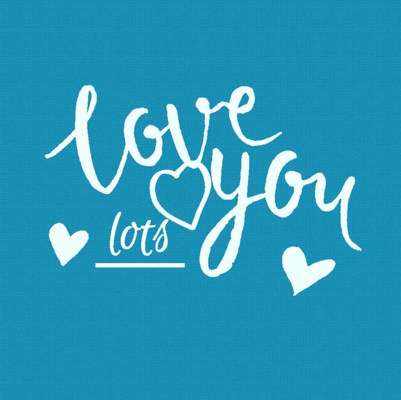Love U: Mini Mesh Stencil